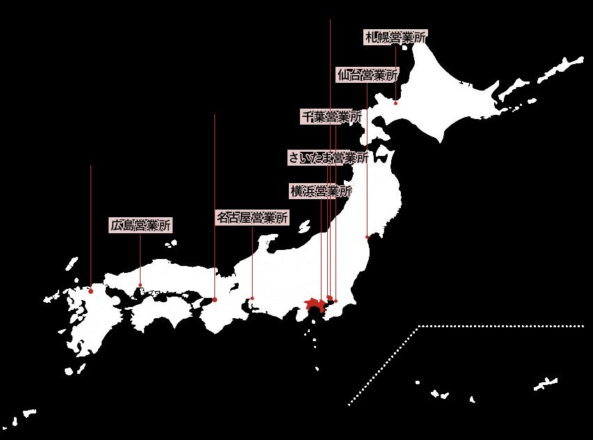 ピーエムジー株式会社 日本地図